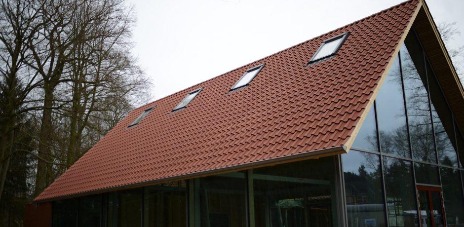 Rote Punkte Dach des Mundes